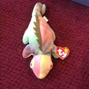 TY Beanie Baby Iggy the Iguana Rare